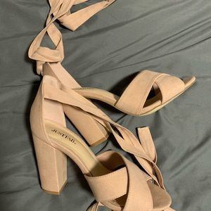 Shoe Dazzle Shoes - Show Dazzle rose gold ballerina heels